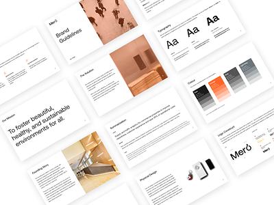 Mero Style Guide brand guidelines brand brand identity brand design style guide styleguide color typography logo branding minimal design
