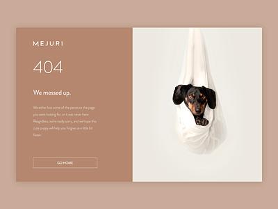 Daily UI 008 - 404 Page 404 error page 404 page 404 jewelry webdesign web minimal design ux ui dailyui