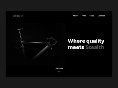 E-commerce landing page concept bike bicycle shop dark theme dark mode dark ui dark black ecommerce design ecommerce shop ecommerce shopify webdesign web minimal design ux ui