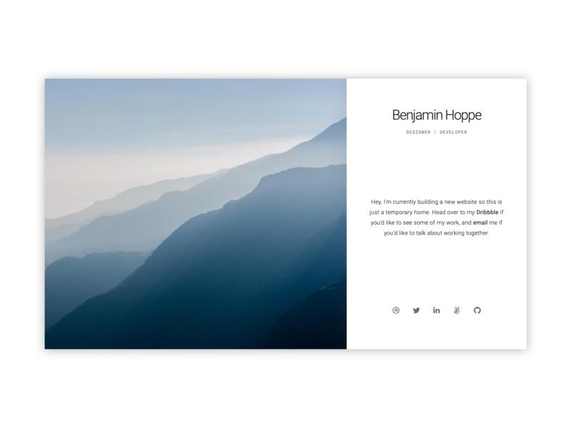Personal Site landing page design design ux ui webdesign landscape minimal web website personal landing page