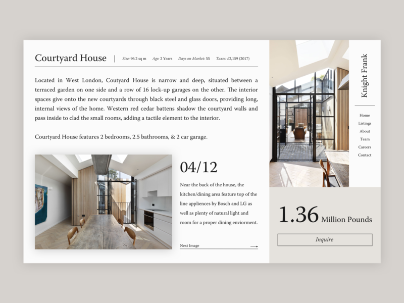 Real Estate Concept interior design interior elegant concept website webdesign minimal design ux ui web design web real estate