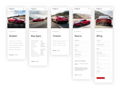 Roadster Site (mobile)