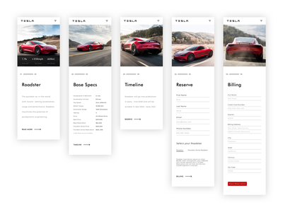 Roadster Site (mobile) mobile website design mobile web design mobile website mobile ui roadster tesla web design website webdesign web minimal design ux ui