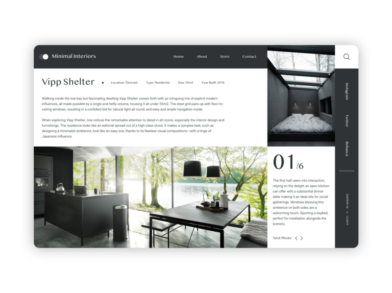 Vipp Shelter web webdesign minimal design ux ui grid design grid layout grid card shadow blog design blog post blog