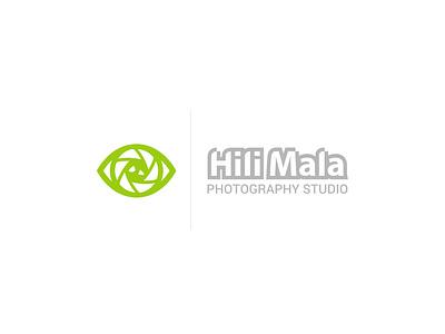 Hilimala Photography Studio Logo studio photography camera eye branding typography design logo