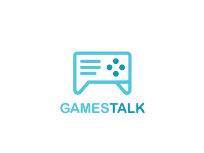Gamestalk Logo Design controller talk games branding typography logo design