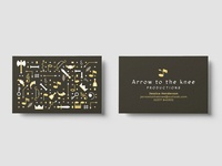 Arrow To The Knee Business Cards