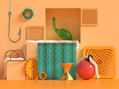 Getting hooked on C4D 🍊