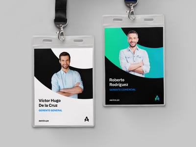 Id card minimal identity card digital branding logo design