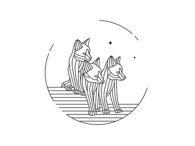 Fauna ai outline outline icon branding fox animal art illustration icon logo minimal design