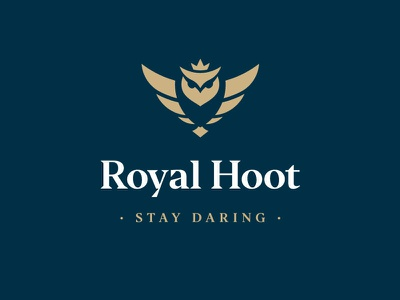 Royal Hoot Branding digital owl owl logo graphic  design vector illustration icon logo design minimal branding brand
