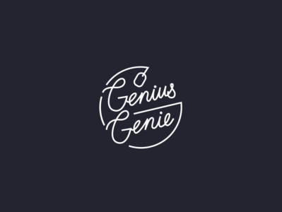 Genius/Genie tshirt concept tshirtdesign design swag calligraphy handlettering typography fintech tshirt genie genius