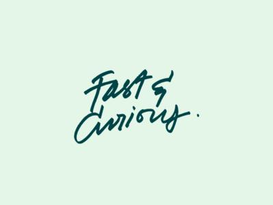 Fast & Curious T-shirt tshirtdesign design handwriting pencil pen swag fintech typography calligraphy handlettering curious fast tshirt