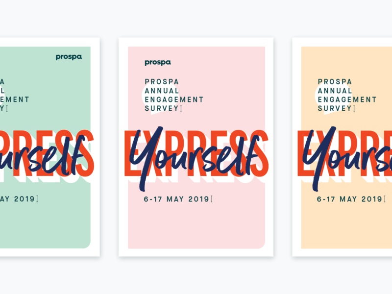 Express Yourself colours stationery survey people culture minimal simple promo prints layering type typography poster