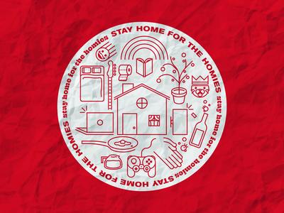Stay Home for the Homies home tigerking toiletpaper games badgedesign coronavirus quarantine