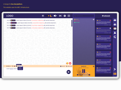 UI Design for Live Chat Platform chat chat app website branding design ui