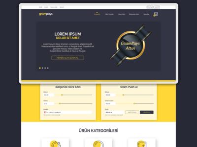 UI Design for Electronic Gold Sales Platform