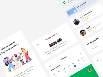 Papajob, on-demand services app. startup ondemand services software company uxdesign illustration design uidesign business material design material ui creative agency webapp product design mobile design mobile
