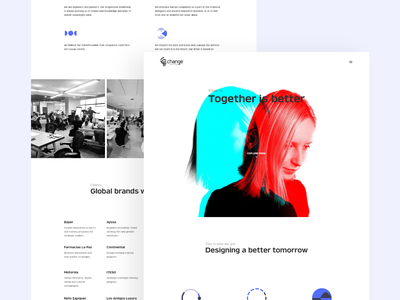 Change Consulting - Website Redesign. website concept web cards creative websites mexico website design web design design agency consulting concept business website landing page material ui uidesign uxdesign creative agency software company