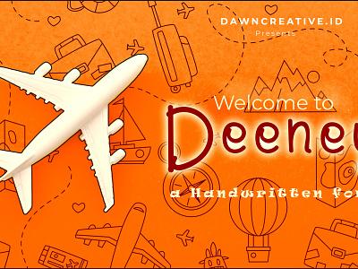 Deeney handwritten font fontself illustration display font handwritten font branding typography handwriting font handwriting handwritten hand drawn