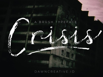 Crisis Font design font script font illustration brush fontself handwritten font display font typography