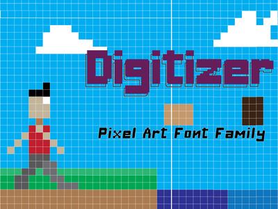 Digitizer Pixel font Family