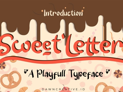 Sweet Letter font funny cute handwritten font display font typography font
