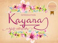 Kayana Script font