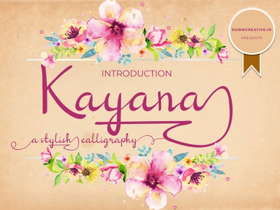 Kayana Script font calligraphy design illustration script font branding handwritten font display font typography font