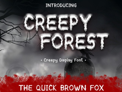 Creepy Forest cute crazy calligraphy illustration design branding handwritten font typography font display font