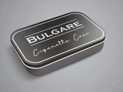 Cigarette Case illustration design branding typography display font