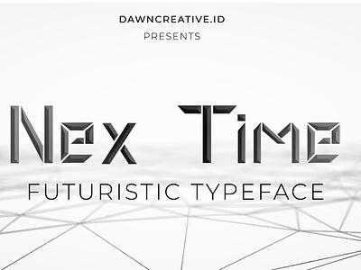 Nextime futuristic Typeface ui fontself digitizer creepy script font design branding font display font typography