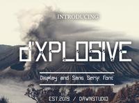d'Xplosive font