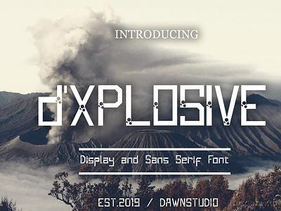 d'Xplosive font vector fontself logo crazy illustration design branding font display font typography