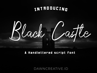 Black Castle font crazy vector creepy ui script font font display font branding handwritten font typography