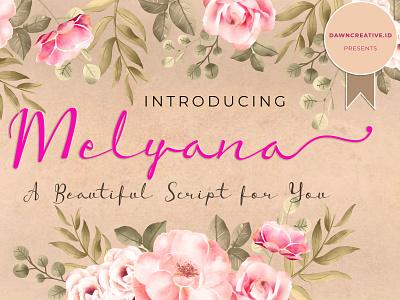 Melyana cute beauty fontself crazy script font handwritten font display font typography