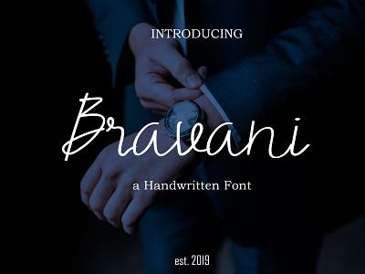 Bravani font fontself font handwritten font typography