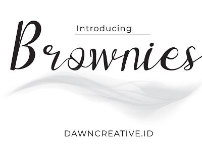 Brownies - Script Font script creative fabrica fontbundles display font ui fontself typography font script font handwritten font