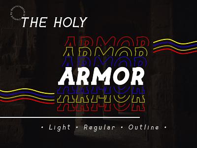 The Holy Armor fontself ux ui logo design branding font display font typography