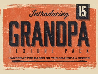 15 Grandpa Texture Pack classic retro texture halftone vintage handmade grunge brush highres stamp typography lettering