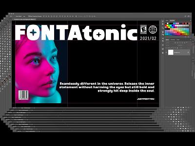 Fontatonic - Bold Sans Serif Fonts instagram bold clean trending fashion modern simple futurism futuristic branding logotype logo ui font typography