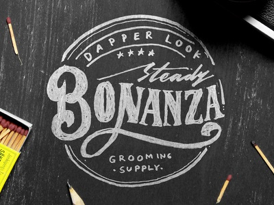 Steady Bonanza typography vintage logo lettering instagram ink hipster handmade handlettering brush