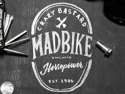 Madbike vintage typography logo lettering instagram ink hipster handmade handlettering brush