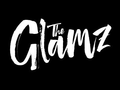 The Glamz handmade brush branding blog fashion cover magazine logo typeface handlettering font lettering