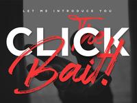 Clickbait logo font