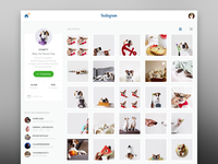 Instagram Redesign flat ui ux interface web instagram redesign website clean yosemite
