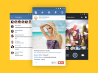 Photo App for VK flat interface ui app android material vk