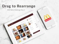Drag to Rearrange experience in a restaurant POS