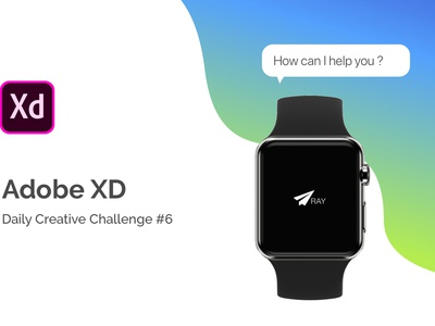 Ray - Voice Enabled Payment App for Smartwatch branding typography logo interaction animation illustration animation design ui ux xd xddailychallenge