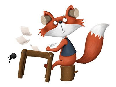 Fox character fox character illustration funny animal childrens book